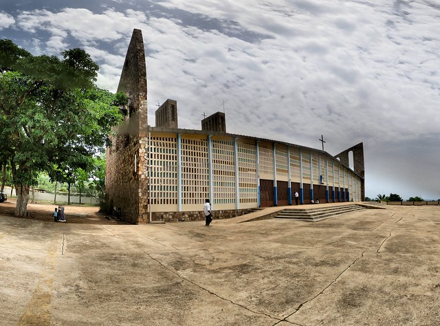 One of the largest buildings of Togo Africa is the Cathedral of Our Lady of the Trinity, the parish of Atakpame.