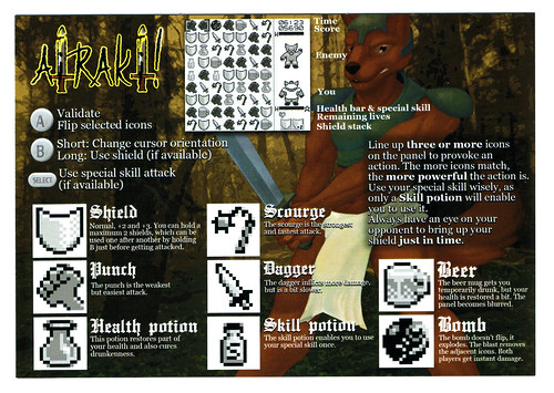 Airaki instruction sheet front scan