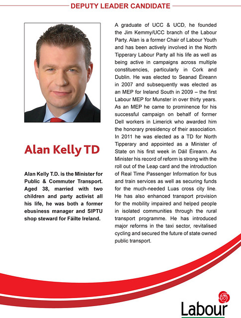 Header of Alan Kelly