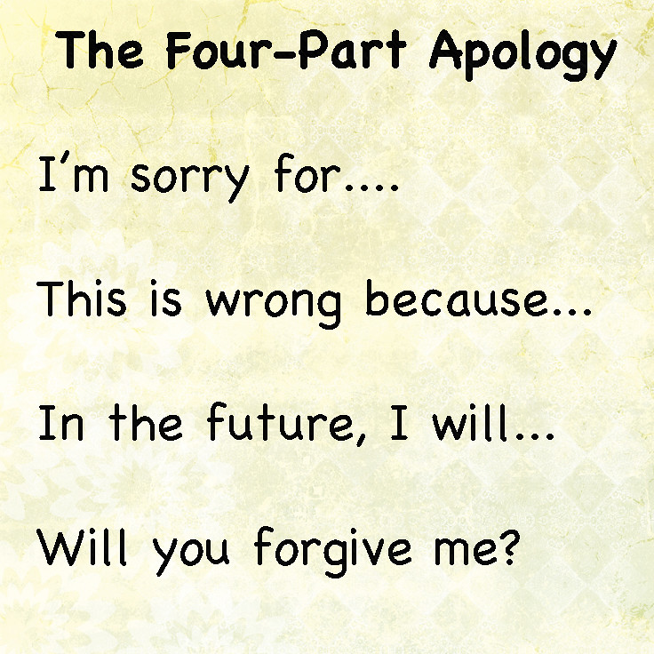 how do I help my kids apologize