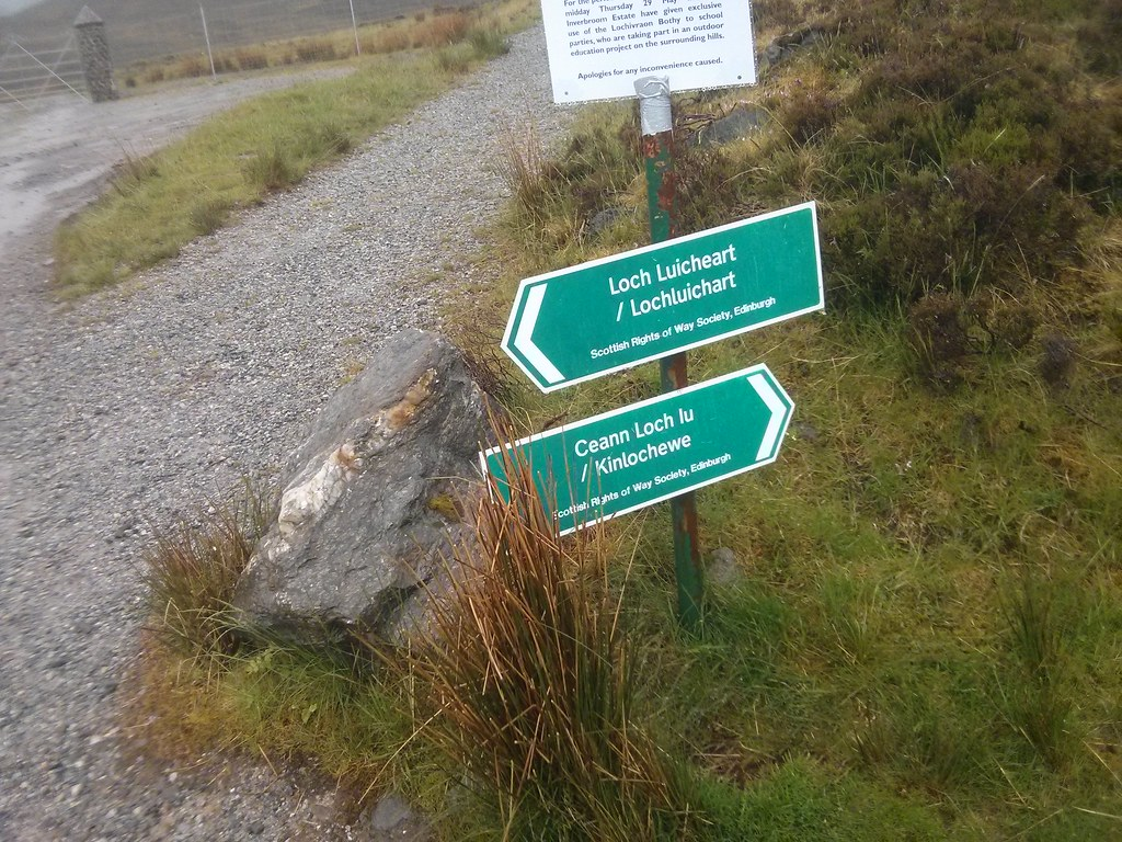 Scotways Sign near Loch a' Bhraoin