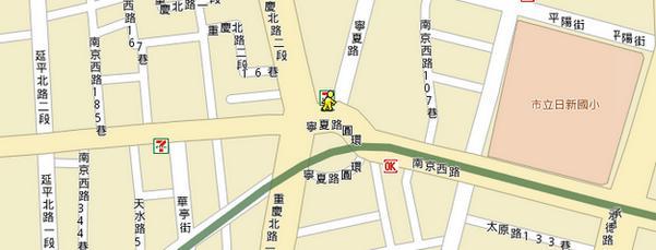 台北市南京西路127號map