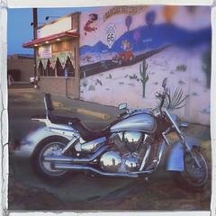 Motorcycle Garcia's Cafe Route 66 Central Avenue Albuquerque New Mexico IMG_8830