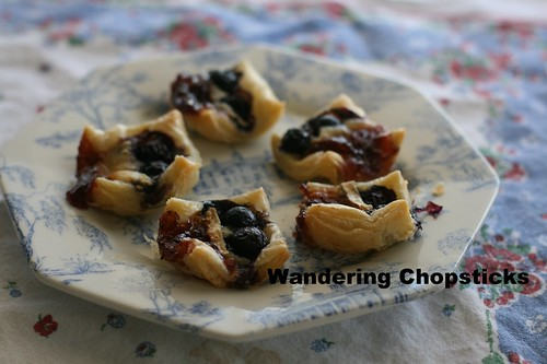 Red (Lingonberry), White (Brie), and Blue(berry) Puff Pastry Tarts 8