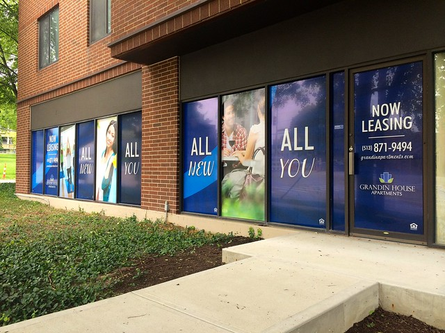Window Graphics for Grandin House Apartments in Cincinnati, OH