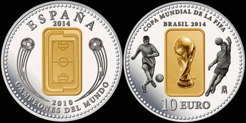 Spain 2014 World Cup coin