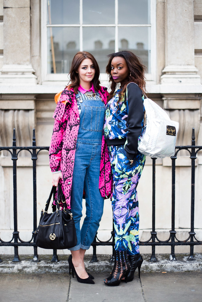 Street Style - Emma Hill & Annie Amusu, London Fashion Week