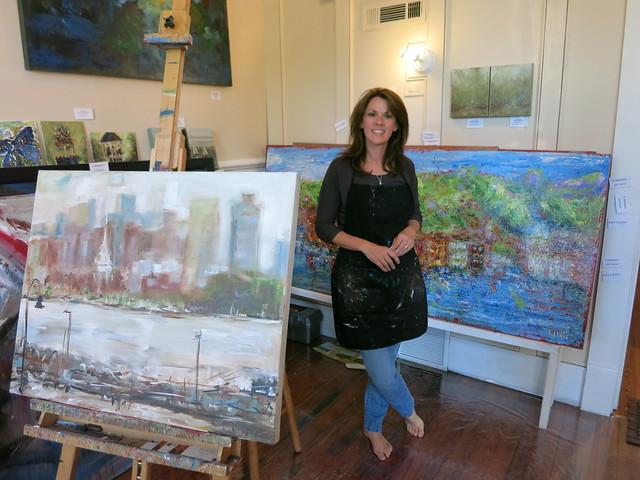 IMG_4538 2014-05-02 Mary Jane Huegel herself Marietta Square first Friday Artwalk Georgia Red Door Art Gallery & Studio