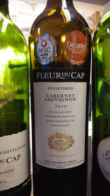 Fleur du Cap Cabernet Sauvignon Unfiltered 2010