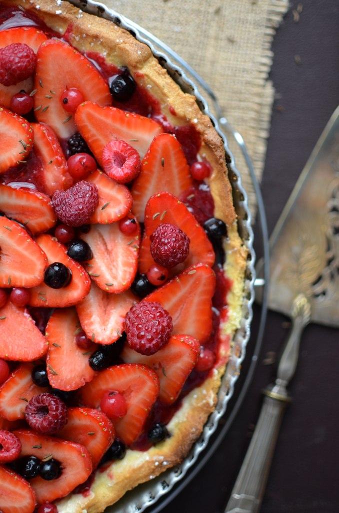 Tarte aux fraises et autres fruits rouges de Philippe Conticini