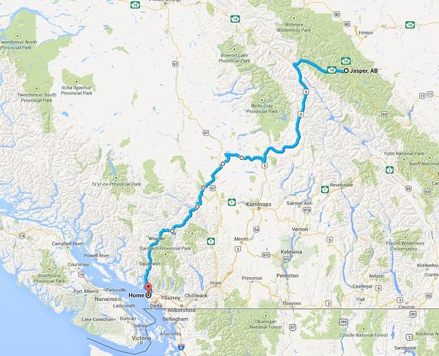 Jasper to Vancouver   Chris and Margo's Wanderings on roberts creek bc map, saanichton bc map, south okanagan bc map, radium hot springs bc map, trail bc map, telegraph cove bc map, invermere bc map, duncan bc map, sidney bc map, comox bc map, burnaby bc map, langara island bc map, nelson bc map, kamloops bc map, tsawwassen bc map, edmonton bc map, princeton bc map, mission bc map, surrey bc map, west vancouver bc map,