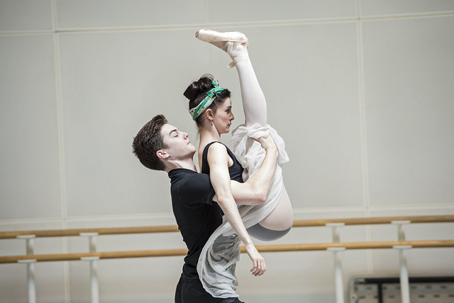 David Donnelly and Olivia Cowley in rehearsal for The Concert, The Royal Ballet © ROH/Bill Cooper, 2014