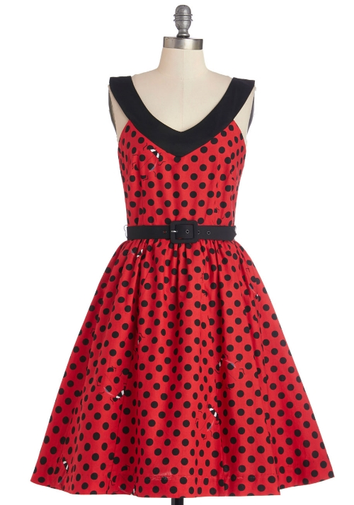 modcloth Who's That Lovely Ladybug Dress