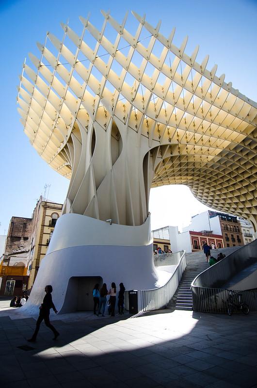 The Metropol Parasol casts architectural shadows in Sevilla.