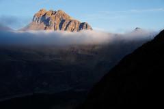 Monte Corte al tramonto