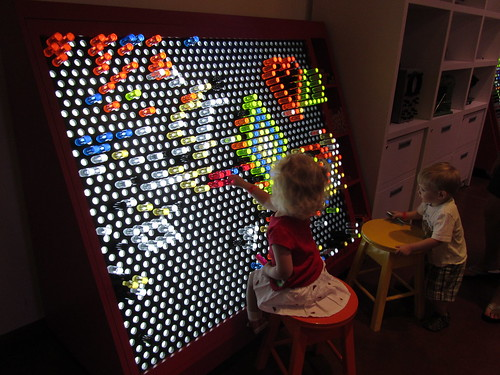 As a child of the 80's I might have been waaaaaayyyy too excited about the giant Lite Brite.