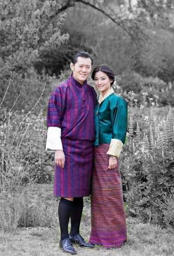 His Majesty Jigme Khesar Namgyel Wangchuck with Jetsun Pema