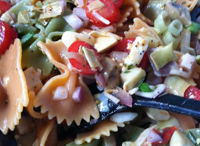 pasta salad step eat