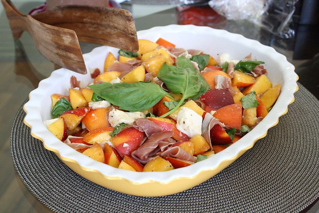 Peach, Mozzarella, and Prosciutto Salad | Flickr - Photo Sharing!