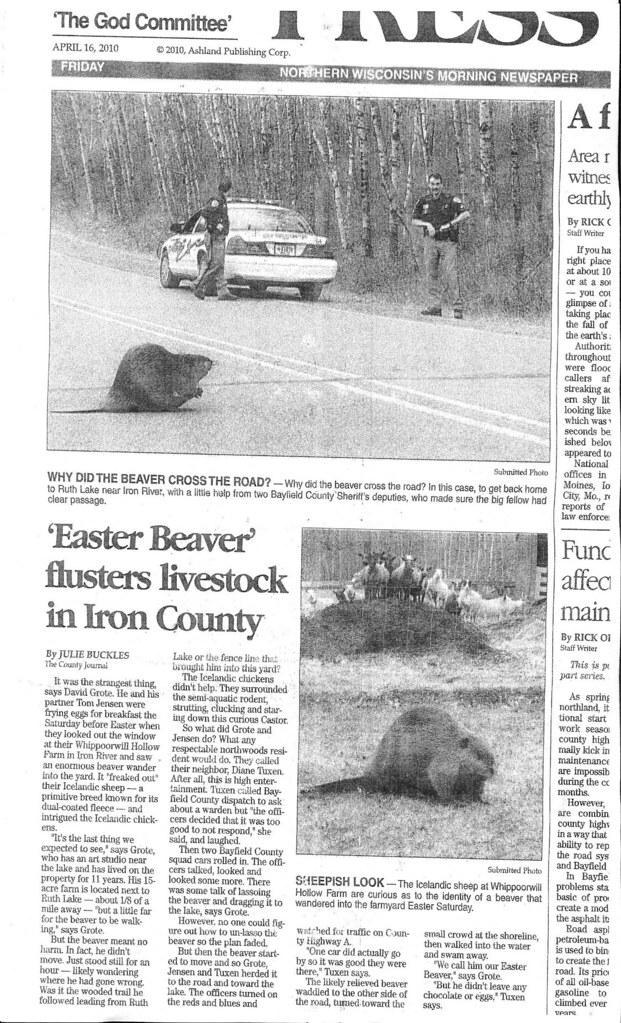 The Easter Beaver.