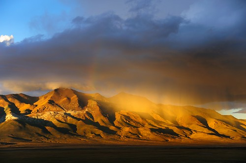 There was a rain of gold over the Gangtise Mountain Range, Tibet by reurinkjan