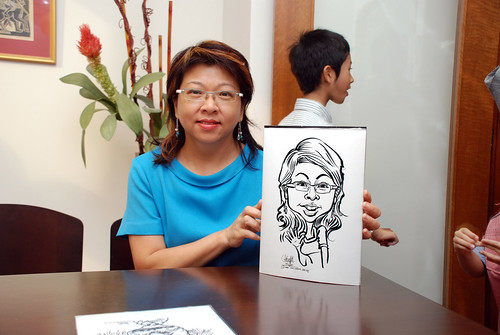 Caricature live sketching for Marks & Clerk Singapore LLP Christmas Party - 6