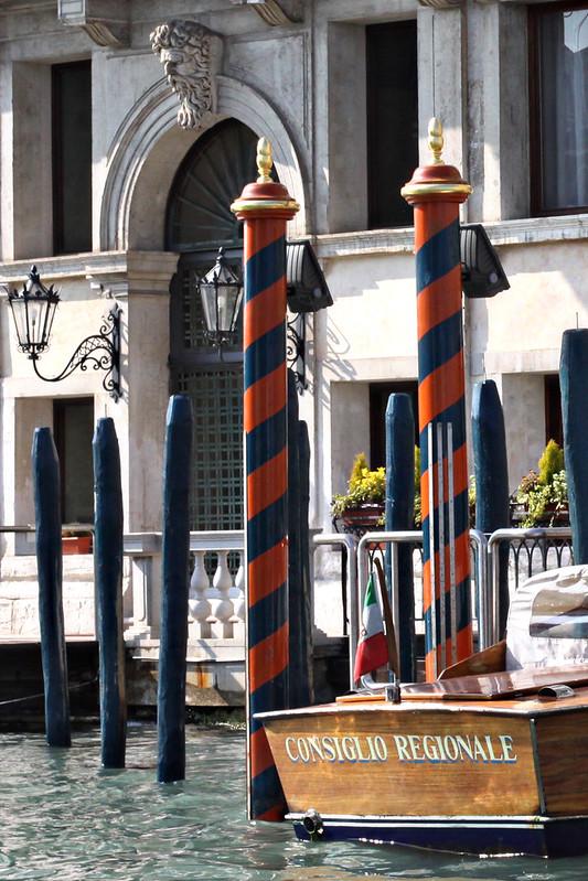 Fancy Orange and Blue Poles