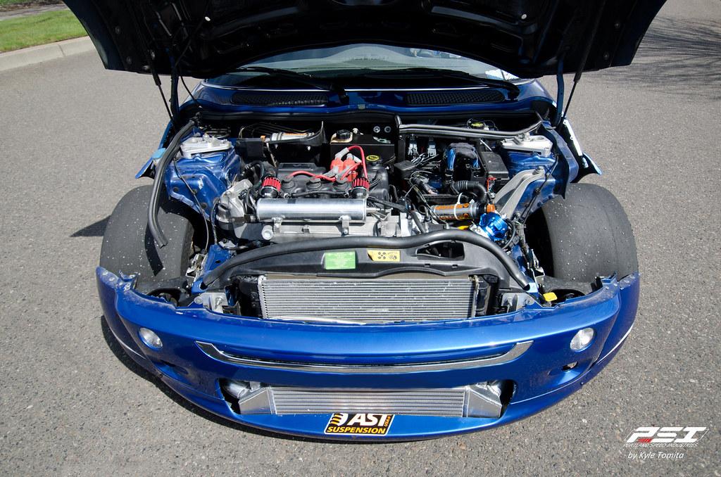 Turbo Mini Cooper Engine Bay