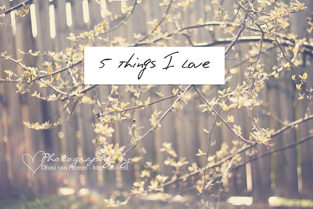 5 thing I love