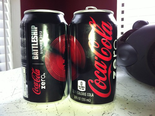 Coke Zero Battleship promotional cans (2012) by Paxton Holley