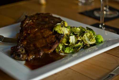 steak and sprouts