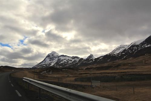 Road Winding Around Mountains
