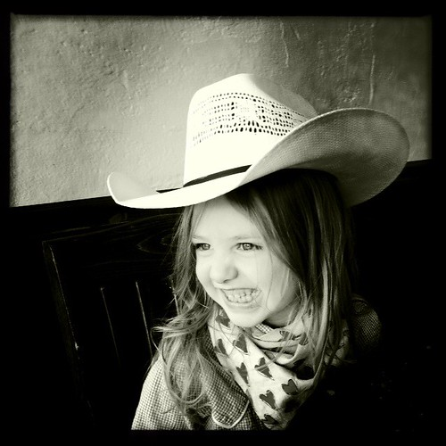 Cowgirl at the bakery