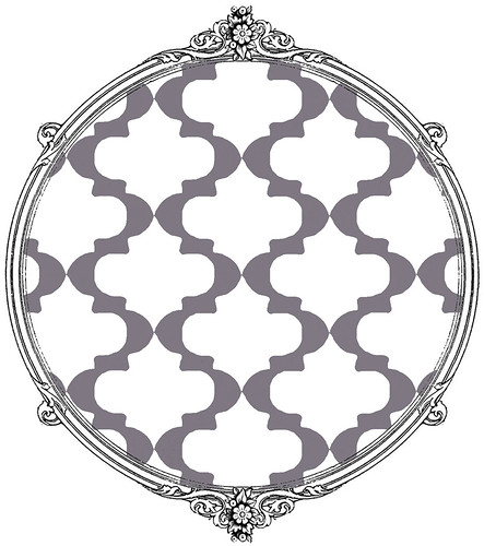 21 sample SKETCH MOROCCAN TILE mel stampz