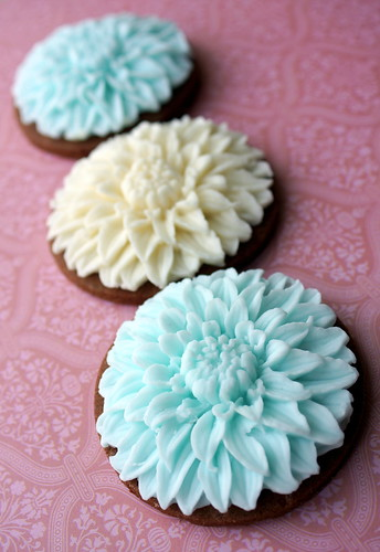 Three Dahlia Cookies