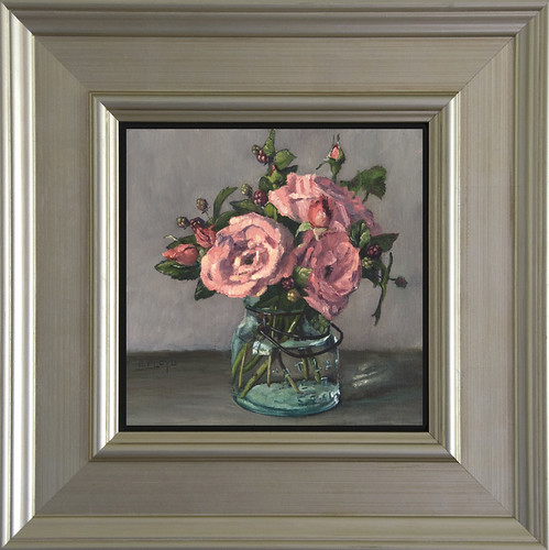 Roses & Wild Blackberries - Framed