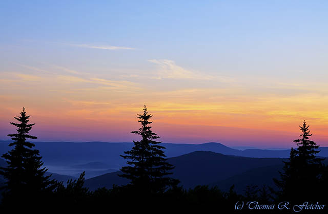 Summer Solstice Sunrise, Highland Scenic Highway