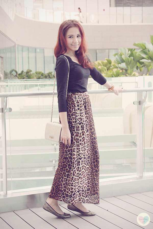 shai lagarde shailagarde lovechic love chic fashion blog style blogger marc coblen watches century city mall DIY event launch pixrepublik leopard print maxi skirt wristwatch 10