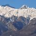 Le Mont d'Armenaz (2158m) et Le Pécloz (2197m) vus depuis Conflans, Albertville, Savoie, Rhône-Alpes, France. ©byb64