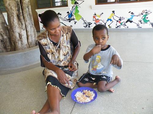 Auntie Priscillar with Kevin