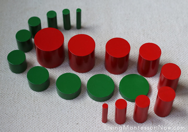 Red and Green Knobless Cylinders Extension
