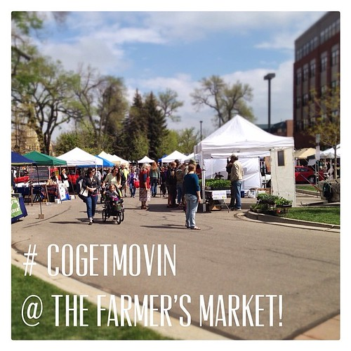 Went to the first Larimer County Farmers' Market this morning as part of my #cogetmovin activity today. How did you move today? #eatlocal #fortcollinsinstagram
