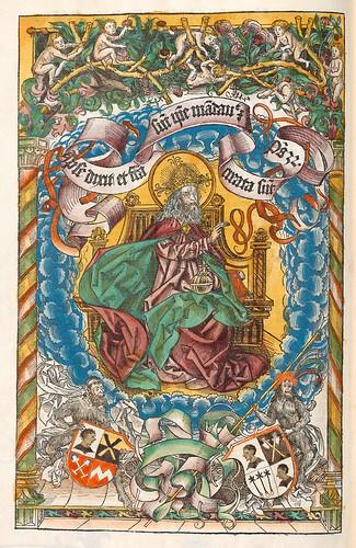 002- Dios Padre-Liber Chronicarum-1493-Biblioteca Estatal de Baviera