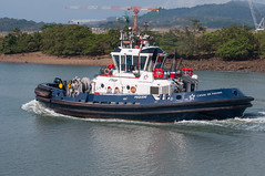 Panama Canal Authority tugboat Pequeni