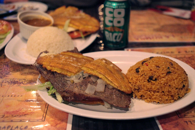 Jibarito with Steak and Onion