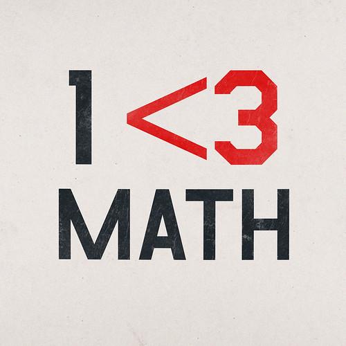 1 <3 MATH