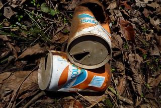 Pepsi cans minus pull tabs