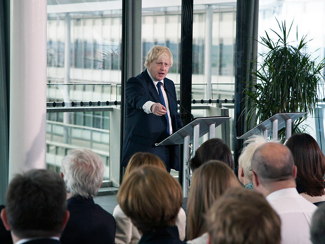 Boris Johnson at Team London
