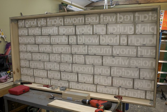 Word Wall - Upper Box Buttons All Fitted, Rear View