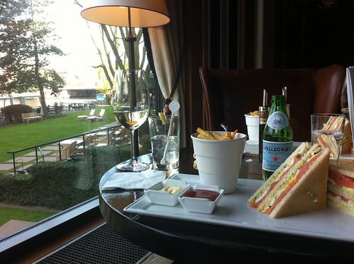 Lunch in bar of Amsterdam Hilton
